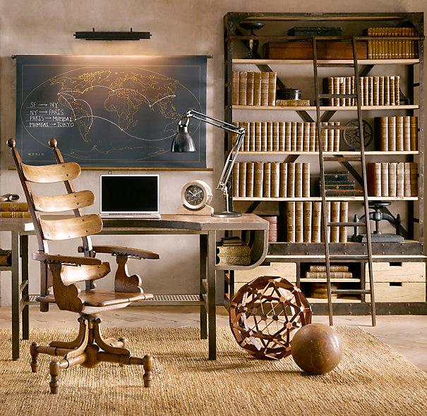 Another Restoration Hardware Option He Found Is Their French Library Shelving Which A Reproduction Of Mid 1940s Eastern European Bookcase That