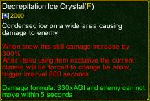 naruto castle defense 6.7 Decrepitation Ice Crystal detail