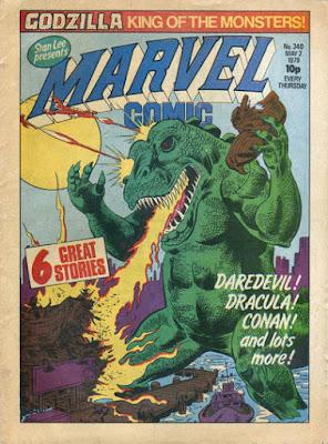 Marvel Comic #340, Godzilla