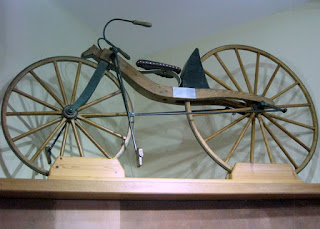 Replica of Kirkpatrick Macmillan's bicycle design, Drumlanrig Castle, Scotland