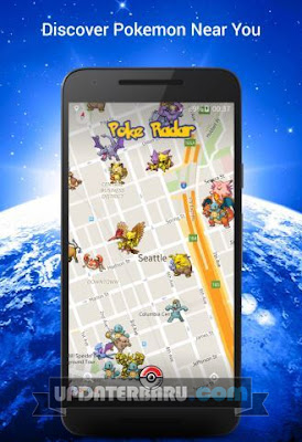 Poke Radar Apk v1.2 Aplikasi Untuk Menampilkan Lokasi Pokemon
