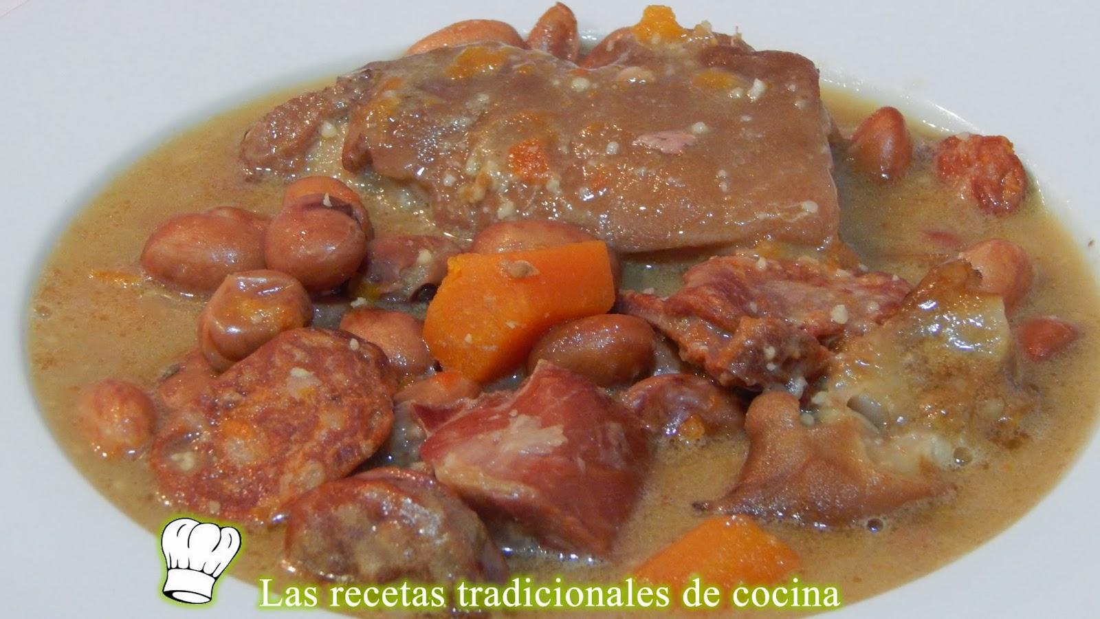 Alubias pintas con manitas de cerdo receta f cil - Judias pintas con manitas ...