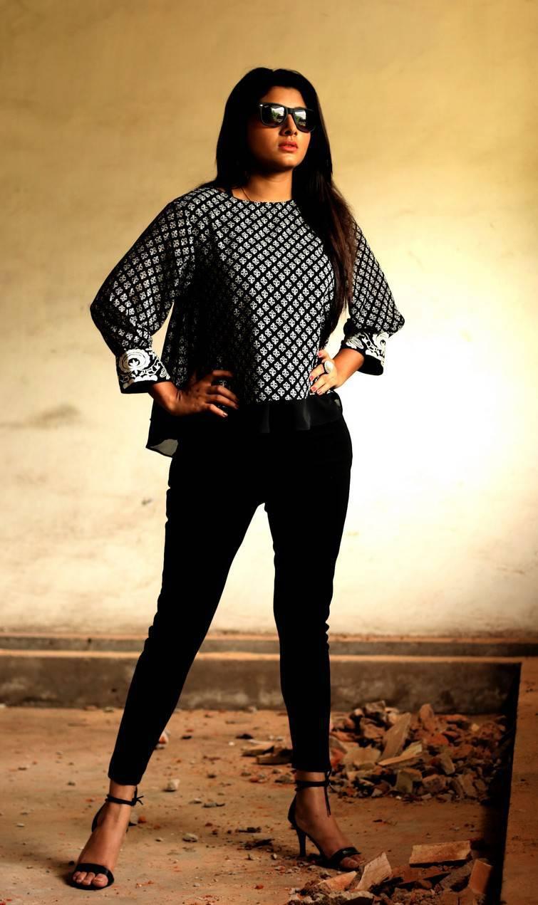 Aditi Menon Photoshoot Stills In Black Top  Indian Girls -6894
