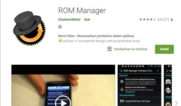 Apa itu Android ROM Manager?