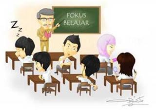 Ilustrasi suasana belajar yang membosankan karena metode yang dipaksakan