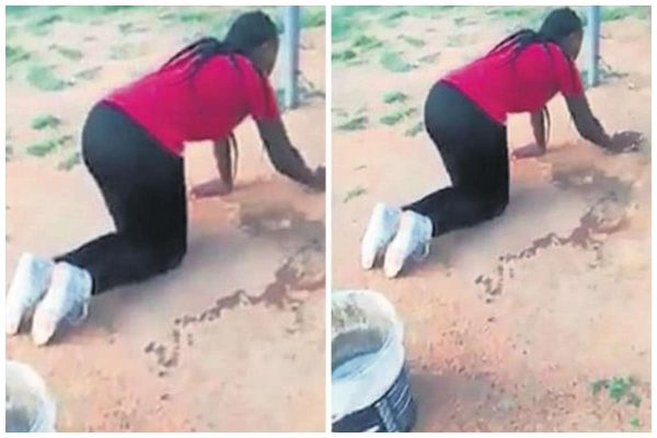 Wife forces her husband's lover to do house chores after she caught them together