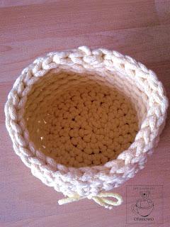 Koszyczek ze sznurka bawełnianego - Ofuniowo