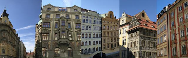 Les styles de façades de Prague