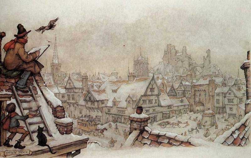 01-Anton-Franciscus Pieck-1895-to-1987-a-life-of-Illustrations-and-Paintings-www-designstack-co