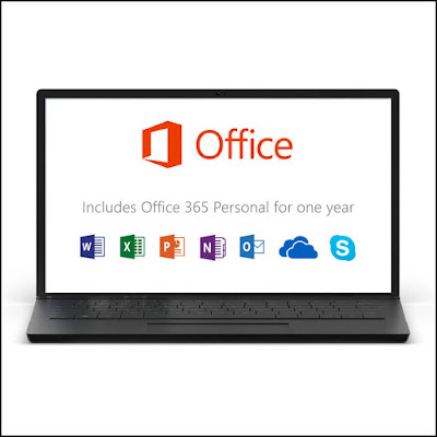 Laptop With Microsoft Office