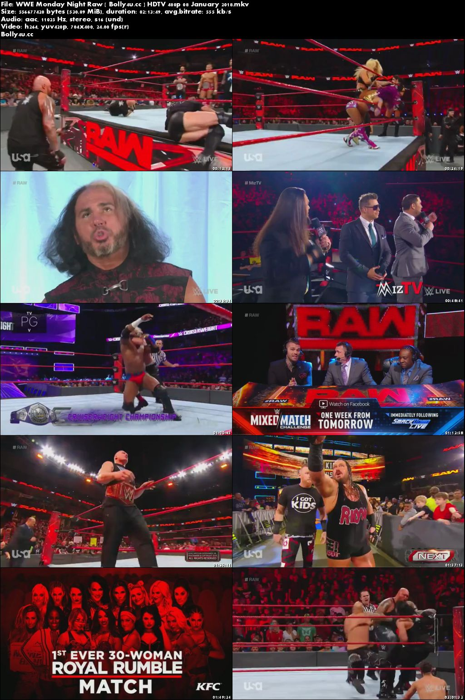 WWE Monday Night Raw HDTV 500Mb 480p 08 January 2018 Download