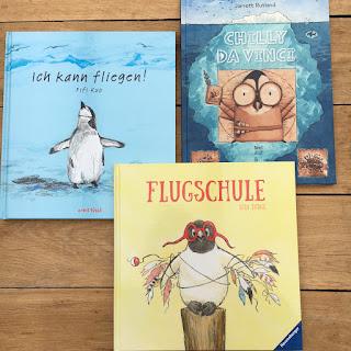 Bilderbücher Pinguin, Fliegender Pinguin, Kinderbuchblog Familienbücherei