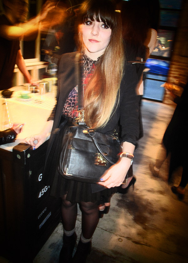 Black on Black with Leopard print blouse, ROC Eye Wear SS 12/13 sunglasses Launch