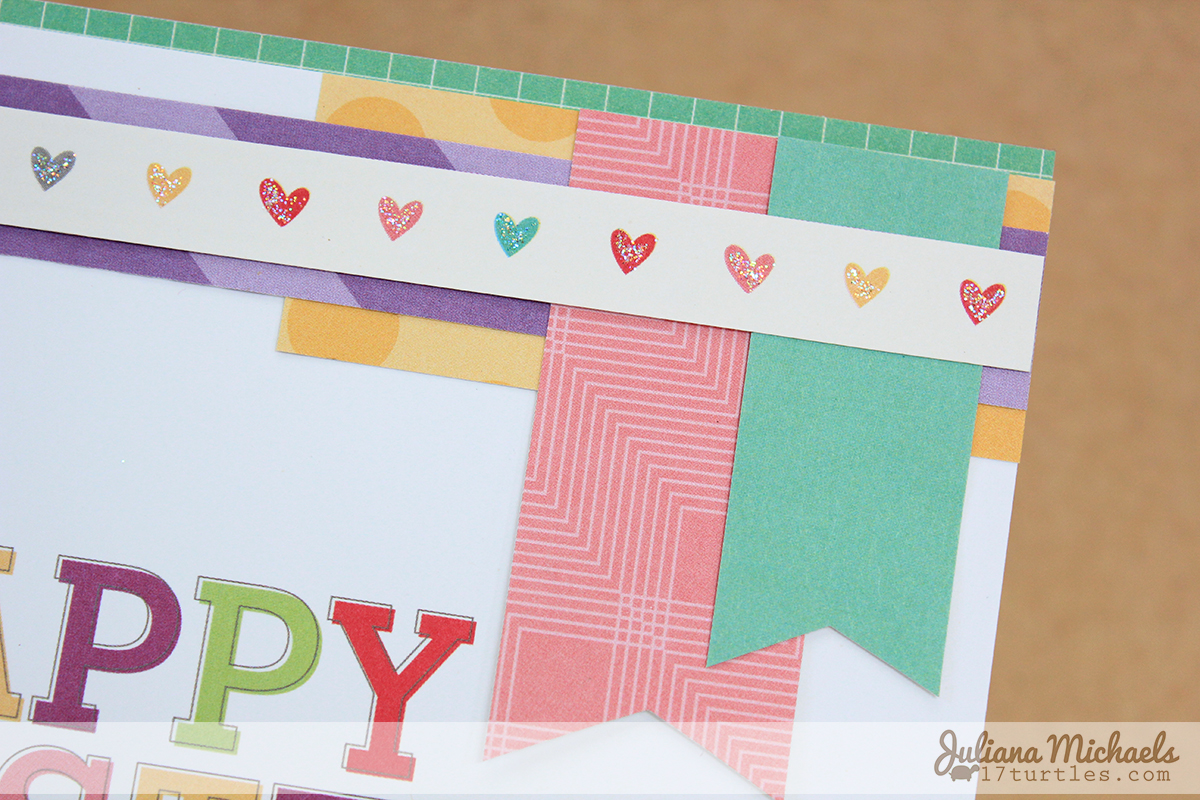 Happy Easter card by Juliana Michaels for Elle's Studio April Kit detail
