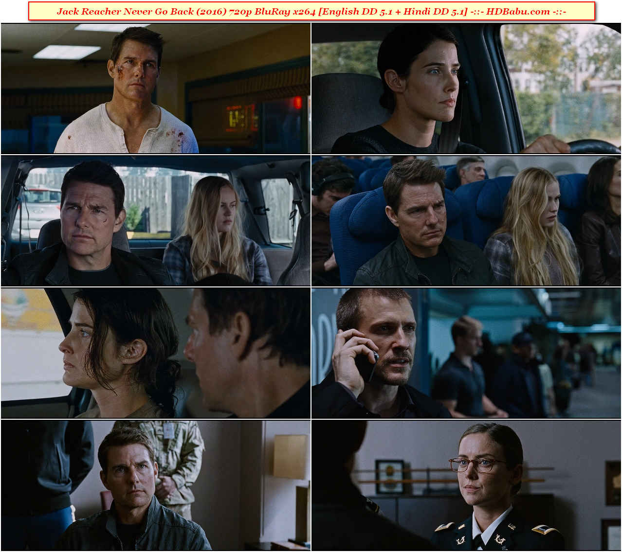 Jack Reacher Never Go Back Full Movie Download 720p Blu-Ray