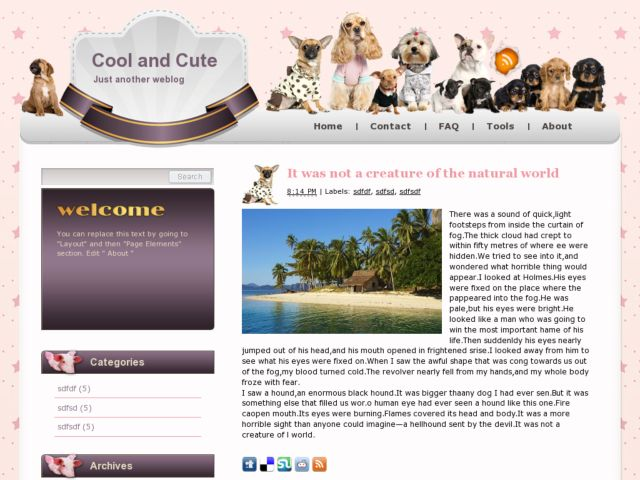 Demo Cool And Cute Blogger Template