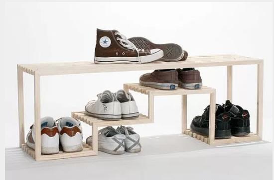 Desain Furniture Rak Sepatu Kayu