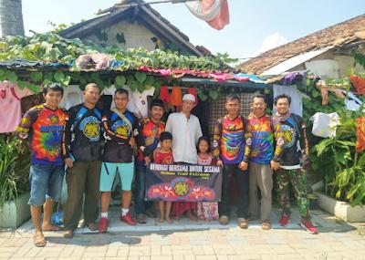 Komunitas Trail Betriex (Bebas Trail Exstreme) Lampung Menggelar Bakti Sosial