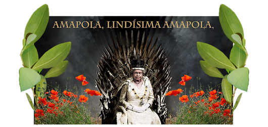 "Queen Elizabeth II of the FARC sees humanity destroyed by the musk of heroin, cocaine, bazuco, marijuana, from Buckingham, on a Throne leading the Third Opium War and with the humming of the melody: ""Poppy, very beautiful Poppy"". ""Amapola, lindísima Amapola.""."