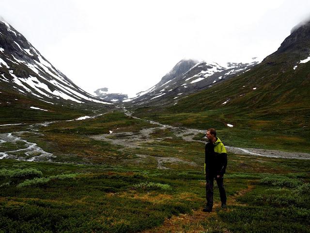 Spiterstulen, trek, Norsko, příroda, stan