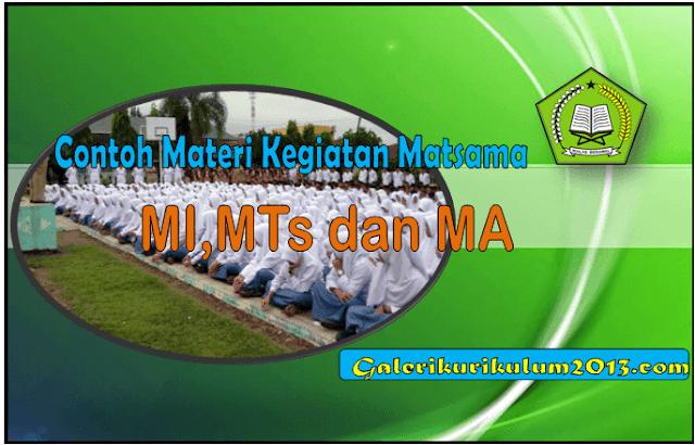 Contoh Kumpulan Materi Matsama MI,MTs dan MA Kegiatan Awal Tahun