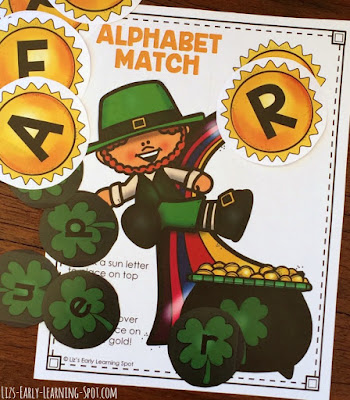 Match uppercase and lowercase letters with this free St Patrick's Day activity!
