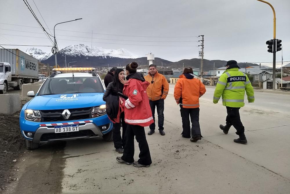 Atropellaron a inspector de transito en Ushuaia