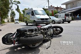 Τροχαίο ατύχημα με τραυματία στο Ναύπλιο