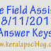 Village Field Assistant Exam 18-11-2017 Answer Keys