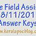 Village Field Assistant Exam 18-11-2017 Answer Keys