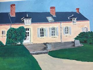Maison campagne peinture par Charlotte Etave