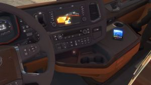 Black & Brown interior mod for Scania 2016
