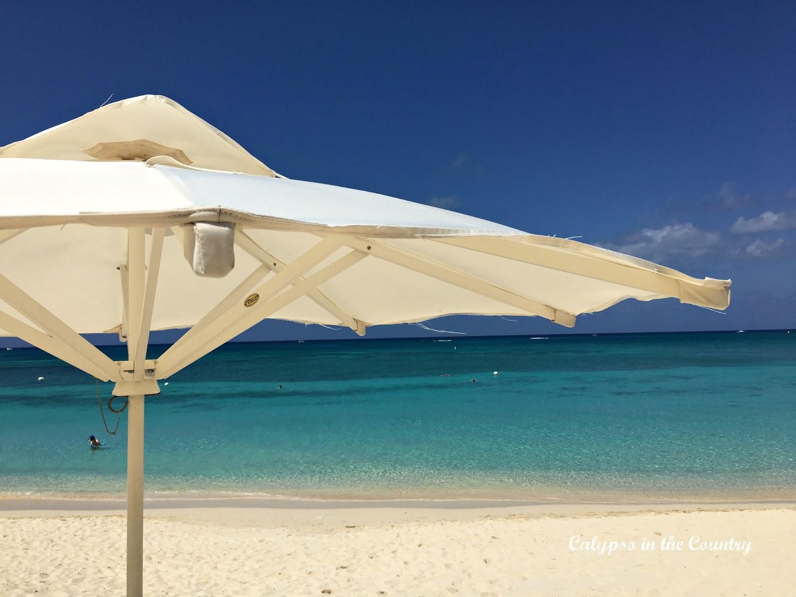 Beach Umbrella on Seven Mile Beach Grand Cayman