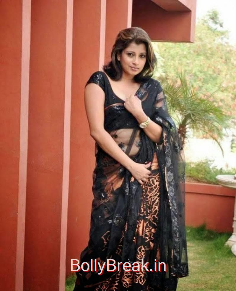 Nadeesha Hemamali HD Saree Navel Photo Gallery