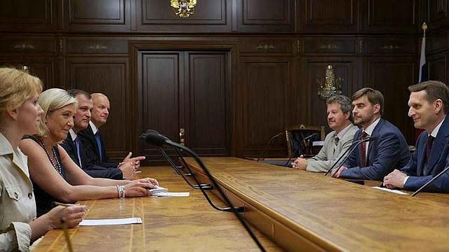 Ministros de Putin concedem recepção inédita a delegação do FN francês, Moscou.