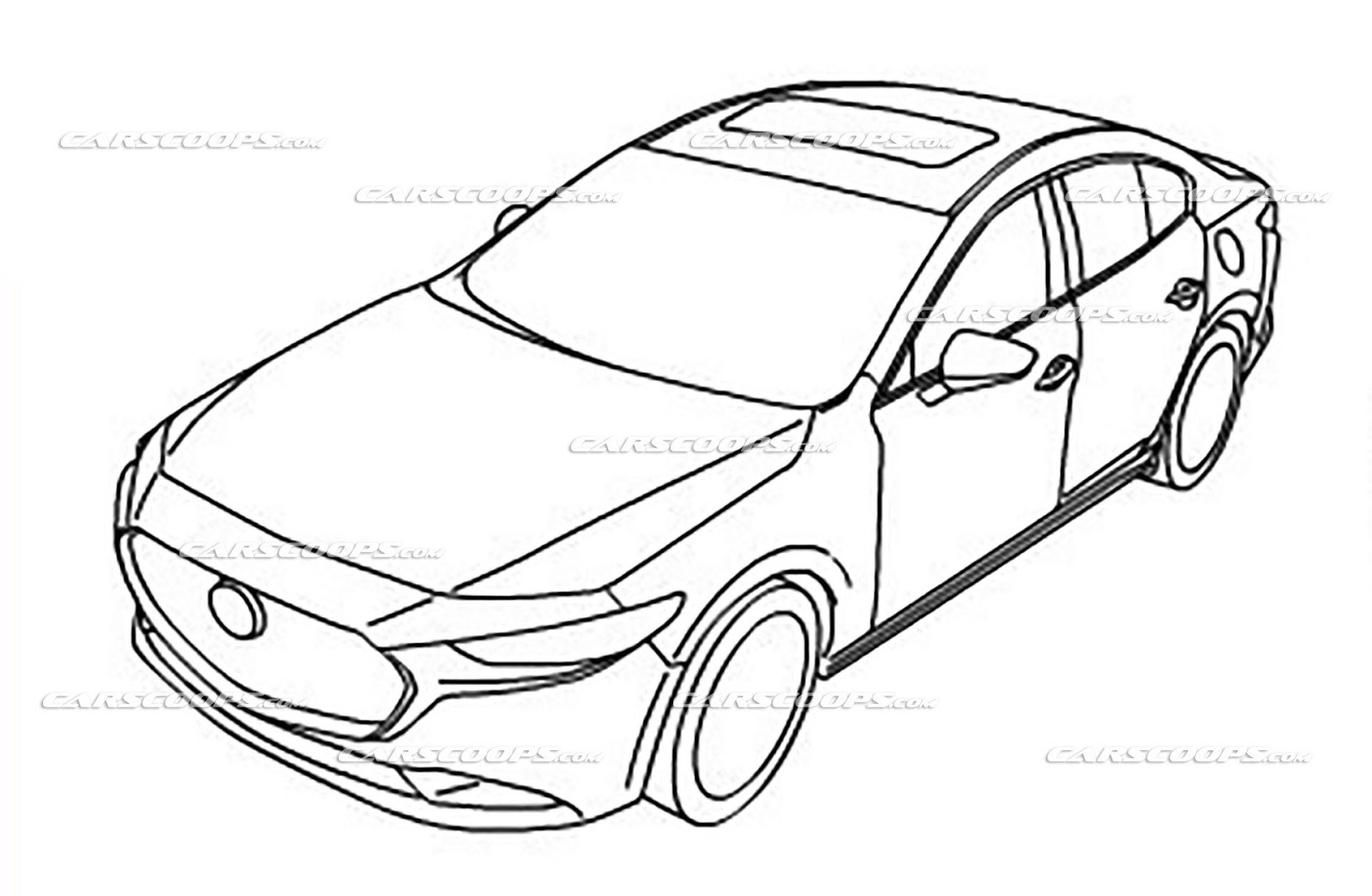 2019 mazda3 ms blog Opel Tigra we can confirm that these are official drawings of the 2019 mazda3 but we don t know if it will be sold as a 2019my or 2020my in the u s a and canada