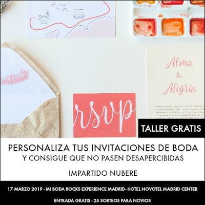 taller personaliza tus invitaciones de boda mi boda rocks experience madrid 2019