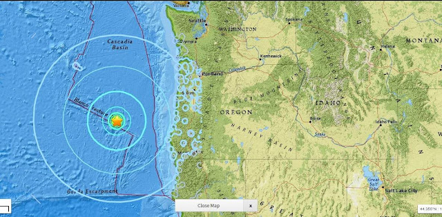 EarthquakeMagnitude 6.2 Earthquake Hits Off Coast of Western Oregon