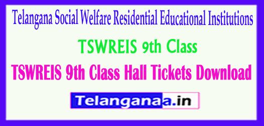 TSWREIS 9th Class Gurukulam Social Welfare Residential School 9th Class 2018 Hall Tickets Download