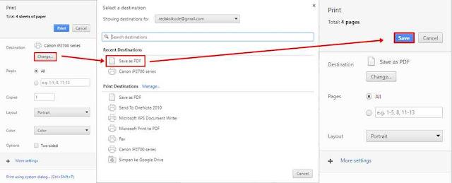 Cara Mendownload/Convert Halaman Web menjadi PDF dengan Chrome