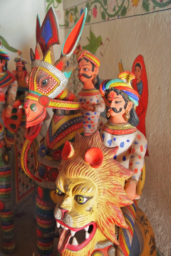 Indian clay figurines