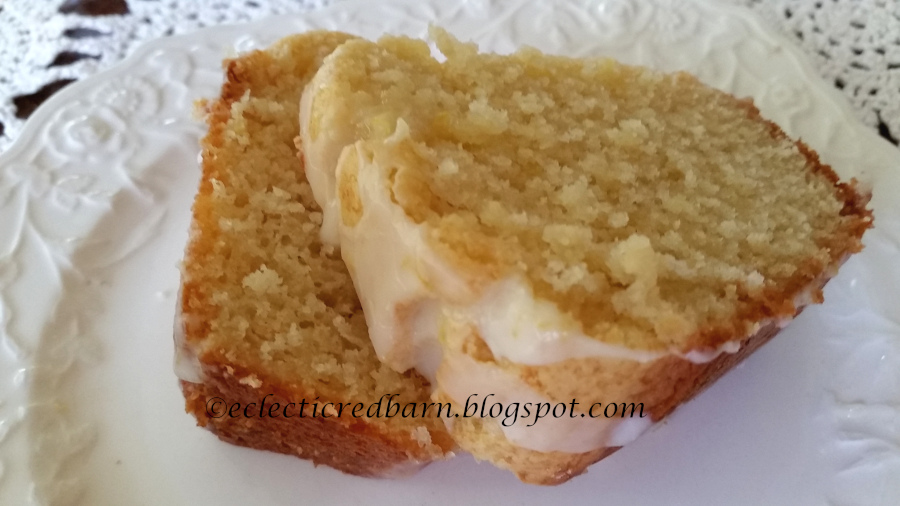 Eclectic Red Barn Luscious Limoncello Cake
