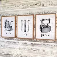 Farmhouse laundry room signs