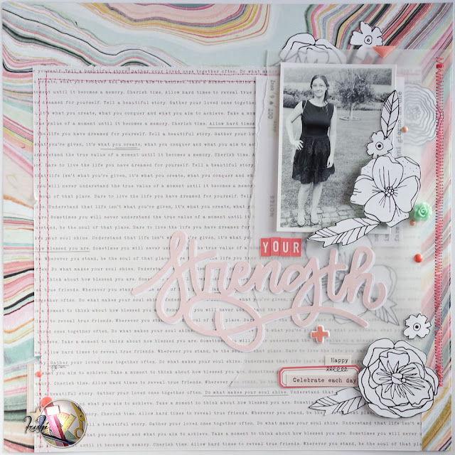 scrapbooking layout | your strength by kushi per Scrappiamo Insieme www.kkushi.com