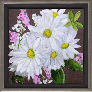 Angelica mixed media floral painting by Merrill Weber