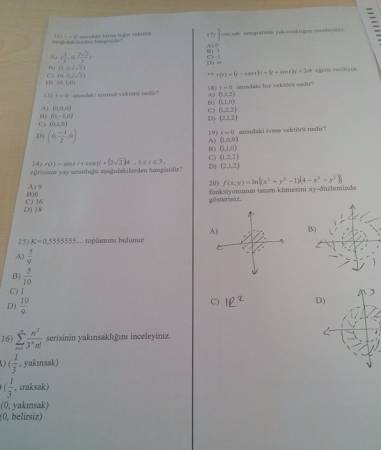 Matematik-2 Vize Soruları
