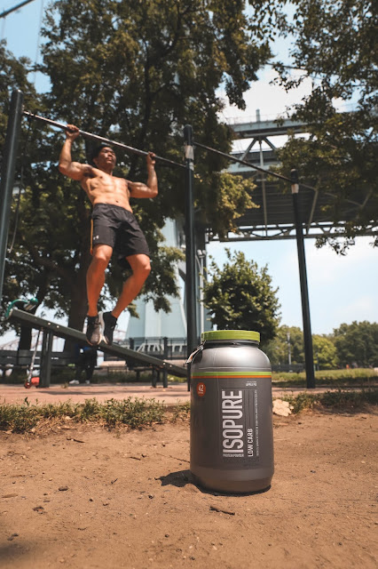 Leo Chan working out with Isopure Apple Pie Protein | Asian Male Model