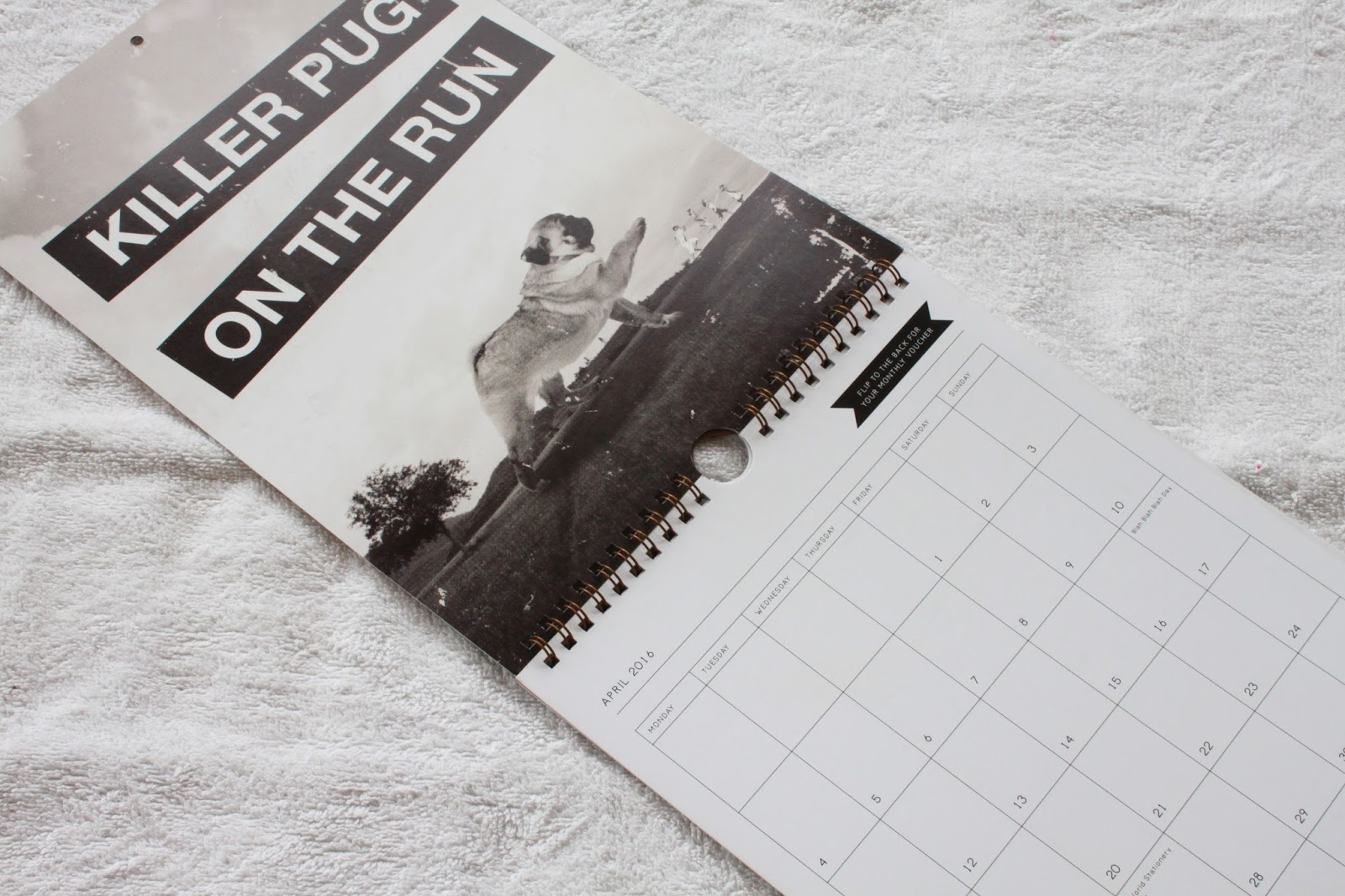Typo Big Pugging Deal Calendar April