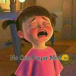 No One Payar mee😢 very sad profile picture a girl crying sad dp for girls