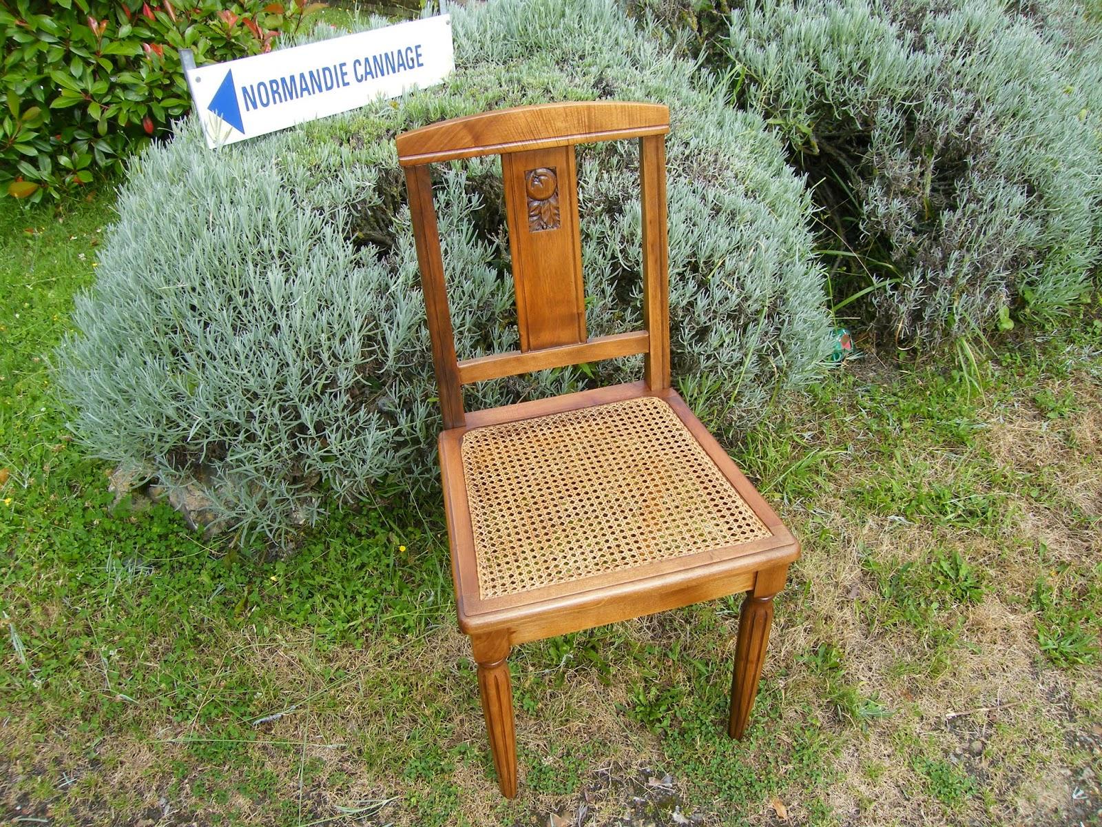 normandie cannage chaise art d co cann e de la r gion. Black Bedroom Furniture Sets. Home Design Ideas